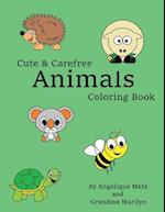 Cute & Carefree Animals Coloring Book