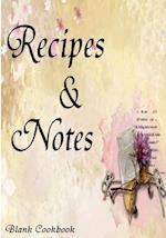 Blank Cookbook Recipe & Note (105 Recipe Blank Book Series #5)