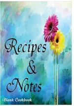 Blank Cookbook Recipe & Note (105 Recipe Blank Book Series #6)