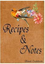 Blank Cookbook Recipe & Note (105 Recipe Blank Book Series #9)