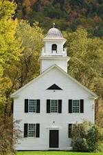 A Charming White Clapboard Church with a Steeple in New England Journal