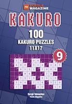 Kakuro - 100 Kakuro Puzzles 11x17 (Volume 9)