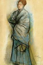 ''Woman in Blue Portrait of Mlle Helene Rouart'' by Edgar Degas - 1886