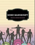 Music Manuscript - 8 Staves
