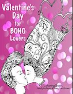 Valentine's Day for Boho Lovers Coloring Book