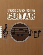Blank Music Sheet for Guitar