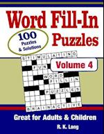Word Fill-In Puzzles, Volume 4