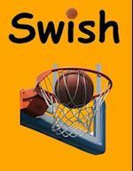 Swish College Ruled Notebook-Black Marker Lettering-Orange