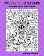 Owls in Your Garden, Children & Adult Coloring Book