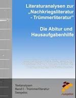 Literaturanalysen Zur Nachkriegsliteratur - Trummerliteratur
