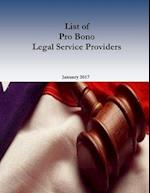 List of Pro Bono Legal Service Providers