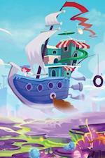 Sky Ship Over Toonland Notebook
