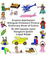 English-Azerbaijani Bilingual Children's Picture Dictionary Book of Colors