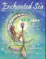 Enchanted Sea - Meramaid Coloring Book in Grayscale - Coloring Book for Grownups