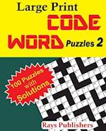 Large Print Code Word Puzzles 2