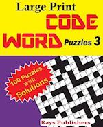 Large Print Code Word Puzzles 3
