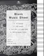 Blank Music Sheet