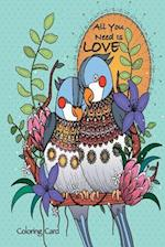All You Need Is Love Coloring Card
