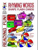 Rhyming Words Shape Flash Cards