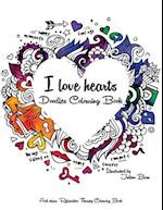 I Love Hearts - Doodle Colouring Book