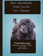 Labradoodle Affection Composition Notebook