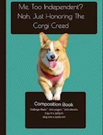 Corgi Independence - Composition Notebook