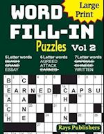 Large Print Word Fill-In Puzzles 2