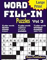 Large Print Word Fill-In Puzzles 3
