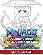 Ninjago Masters of Spinjitzu Coloring Book for Adults & Kids