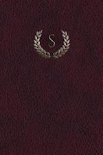 Monogram S Notebook