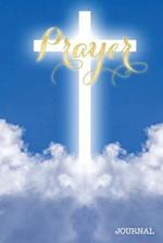 Prayer Journal Glowing Cross Heaven Clouds