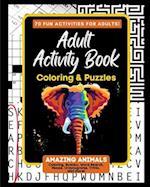 Adult Activity Book Amazing Animals