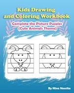 Kids Drawing and Coloring Workbook