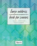 Large Address Book for Seniors