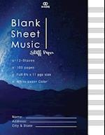 Blank Sheet Music Staff Paper
