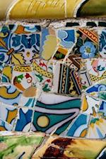 A View of Park Guell Antonio Gaudi Colorful Mosaics in Barcelona Spain Journal