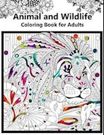 Animal and Wildlife Coloring Book for Adutls