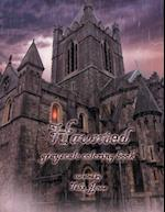Haunted Grayscale Coloring Book