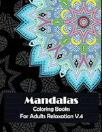 Mandala Coloring Books for Adults Relaxation V.4