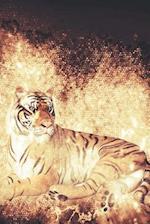 Stay Wild at Heart Golden Tiger Illustration Art Journal