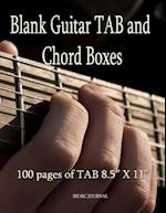 Blank Guitar Tab and Chord Boxes - 100 Pages of Tab 8.5