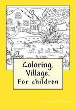 Coloring. Village