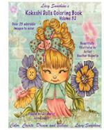 Lacy Sunshine's Kokeshi Dolls Coloring Book Volume 32