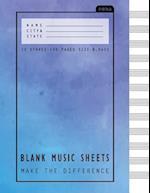 Pastel Blank Music Sheets