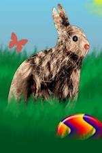 Journal Easter Bunny Colored Easter Egg Meadow