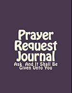 Prayer Request Journal