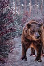 A Bear Walking in the Forest Art Journal