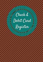 Check & Debit Card Register (Bonus Notes Area/7 X 10 Inches)