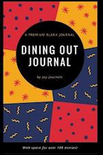 Blank Dining Out Journal