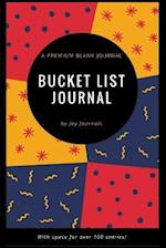 Blank Bucket List Journal